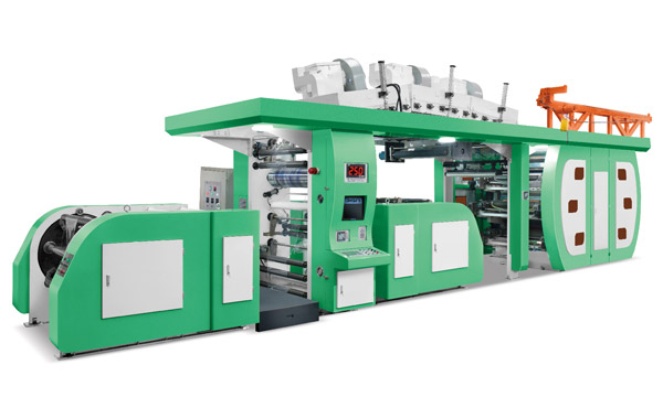Six COIORS Central Impression Flexographic Printing Machine